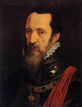 Portrait of Ferdinand Alvarez de Toledo | Willem Key | oil painting