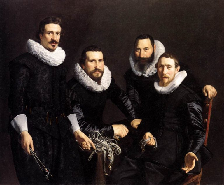 The Syndics of the Amsterdam Goldsmiths Guild 1627 | Thomas De Keyser | oil painting
