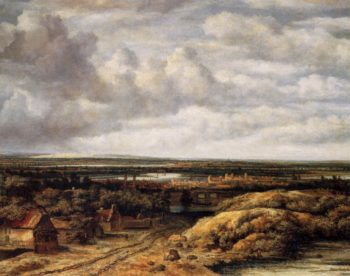 Panorama with Farmhouses along a Road 1655 | Philips Koninck | oil painting