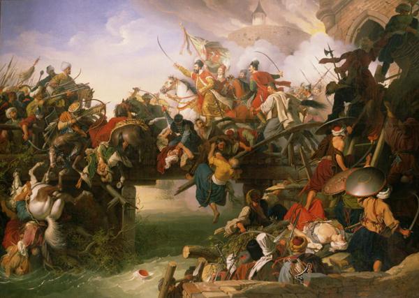 Zrinyi's Outburst | Johann Peter Krafft | oil painting