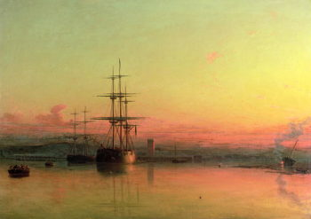 Dead Calm Sunset at the Bight of Exmouth | Francis Danby | oil painting