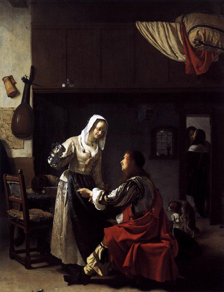 Brothel Scene 1658 | Frans Van Mieris | oil painting