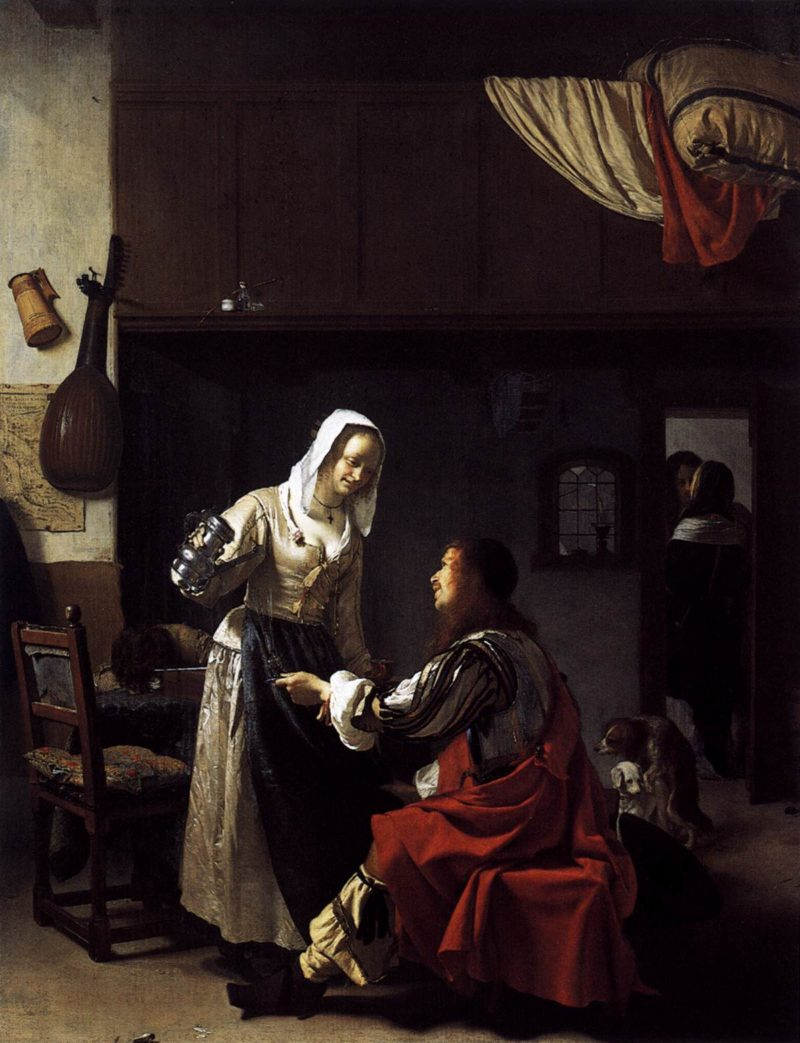 Brothel Scene 1658 | Frans Van Mieris | oil painting