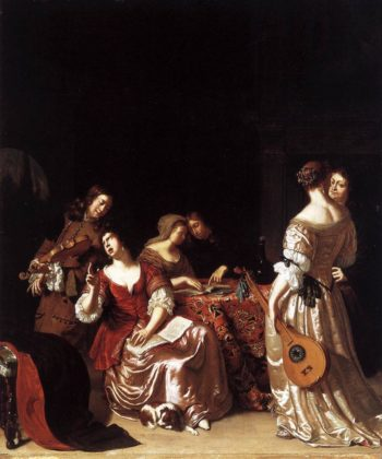 Musical Company 1681 | Frans Van Mieris | oil painting