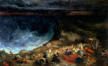 The Delivery of Israel Pharaoh and his Hosts overwhelmed in the Red Sea 1825 | Francis Danby | oil painting