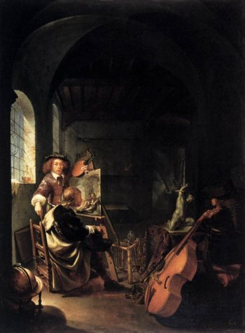 The Painter's Studio 1659 | Frans Van Mieris | oil painting