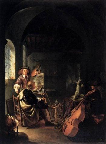 The Painter's Studio 1659 | Frans Van Mieris | oil painting