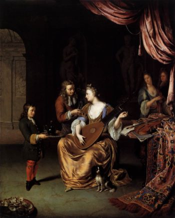 The Lute Player 1711 | Willem Van Mieris | oil painting