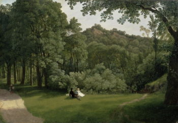 View of Blaise Castle Woods | Francis Danby | oil painting