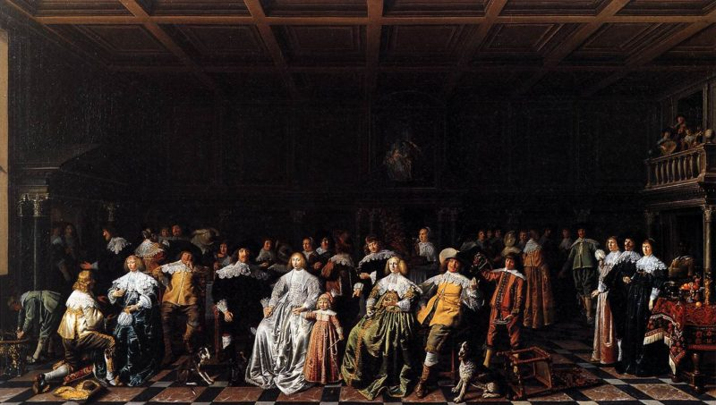 The Marriage of Willem van Loon and Margaretha Bas 1637 | Jan Miense Molenaer | oil painting