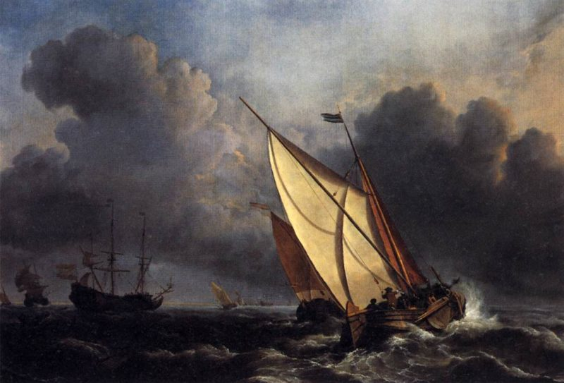 Dutch Fishing Boats in a Storm 1801   Joseph Mallord William Turner   oil painting