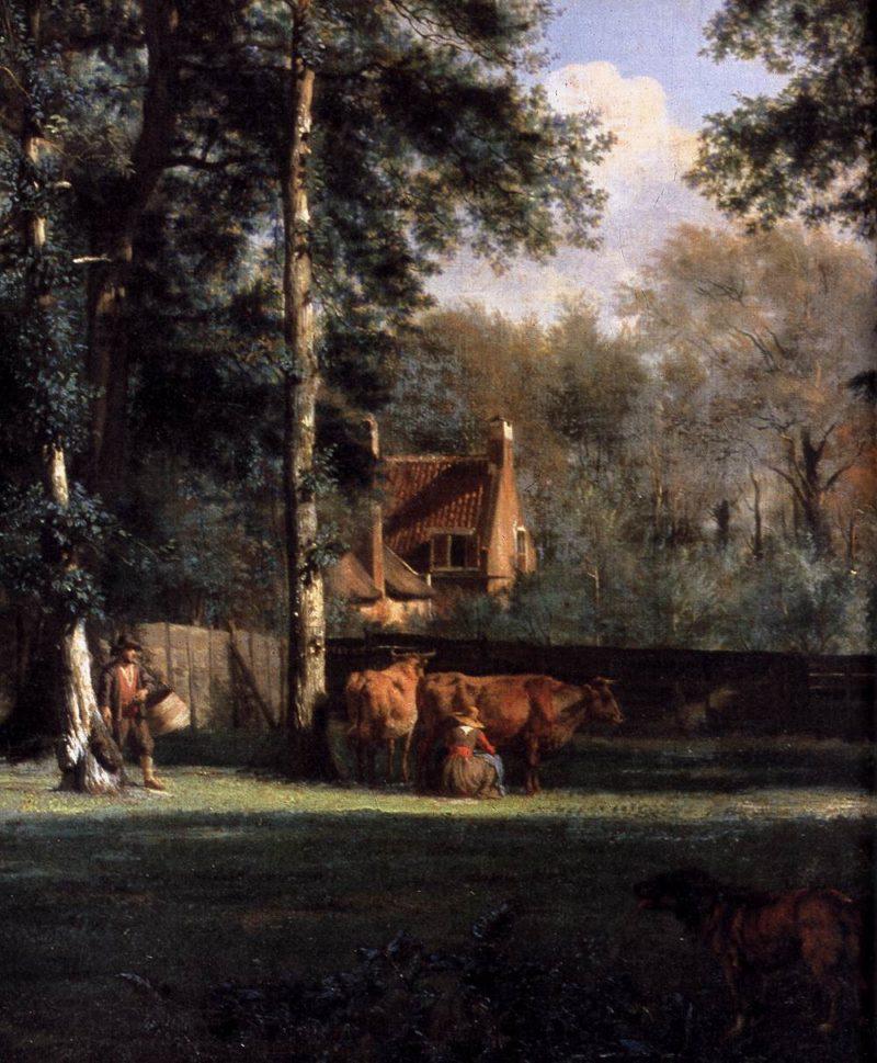 The Farm (detail) 1666 | Adriaen Van De Velde | oil painting