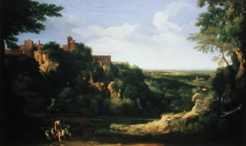View of Tivoli with Rome in the Distance | Gaspard Poussin Dughet | oil painting