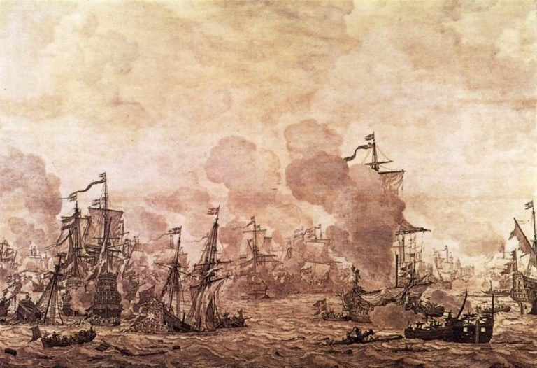 The Battle of the Sound 1658 | Willem Van De Velde | oil painting