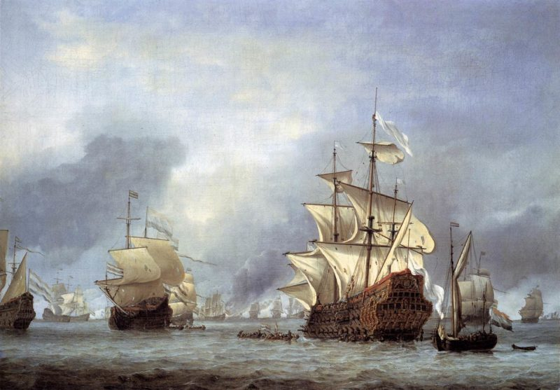 The Taking of the English Flagship the Royal Prince 1666 | Willem Van De Velde | oil painting