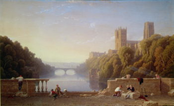 Durham Cathedral from Prebend's Bridge | George Fennel Robson | oil painting