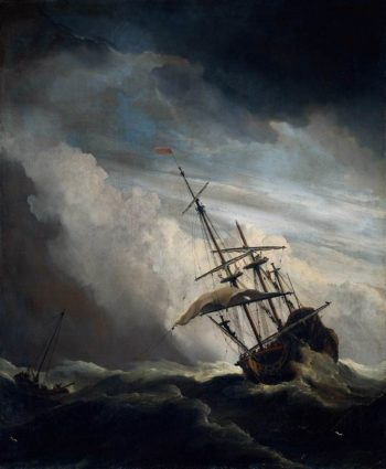 The Gust 1680 | Willem Van De Velde | oil painting