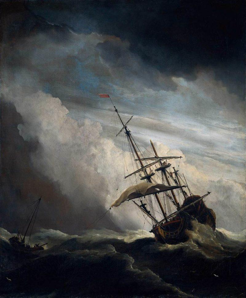The Gust 1680   Willem Van De Velde   oil painting