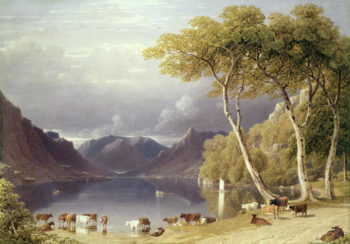 Head of Ullswater in the Lake District | George Fennel Robson | oil painting