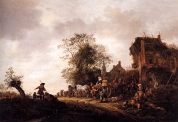 Travellers at a Country Inn 1645 | Isaack Van Ostade | oil painting