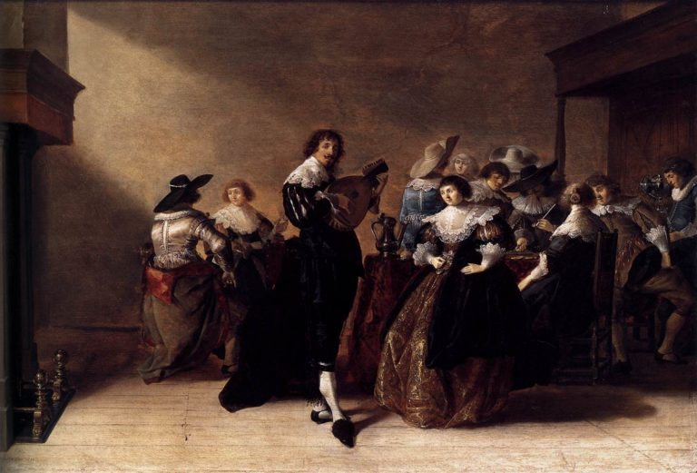 A Merry Company 1632 | Anthonie Palamedesz | oil painting