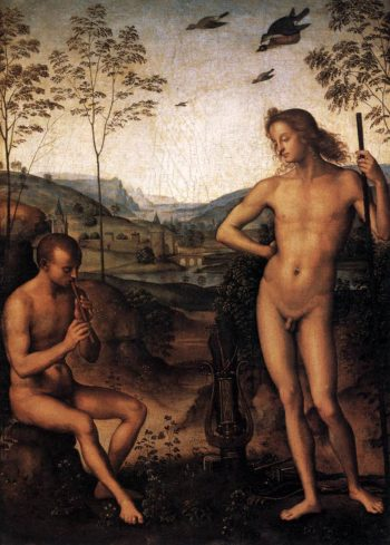 Apollo and Marsyas 1495 | Pietro Perugino | oil painting