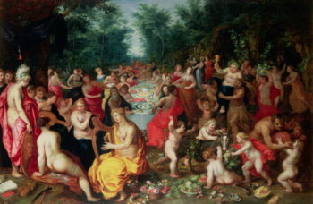 Feast of the Gods | Hendrik van the Elder Balen | oil painting