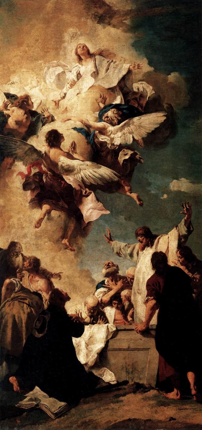 Assumption of the Virgin 1735 | Giovanni Battista Piazzetta | oil painting