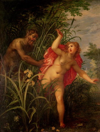 Pan Pursuing Syrinx 1615 | Hendrik van the Elder Balen | oil painting