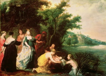 Pharaoh's Daughter Discovering Moses | Hendrik van the Elder Balen | oil painting