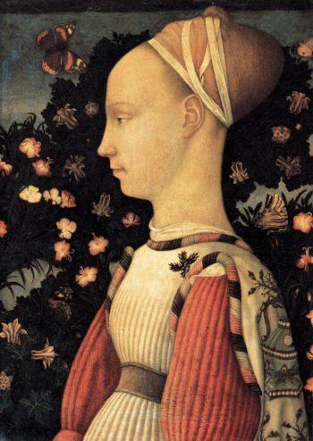 Portrait of a Princess of the House of Este 1436-38 | Pisanello | oil painting