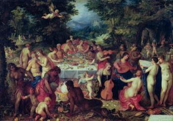 The Banquet of the Gods | Hendrik van the Elder Balen | oil painting