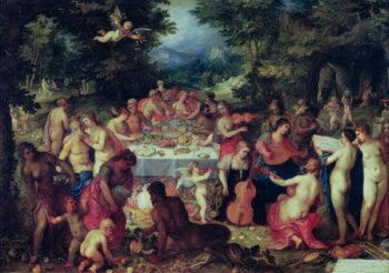 The Banquet of the Gods | Hendrik van the Elder Balen | oil painting