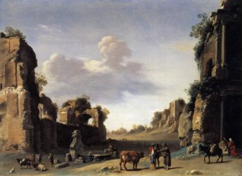 View of the Campo Vaccino 1620 | Cornelis Van Poelenburgh | oil painting