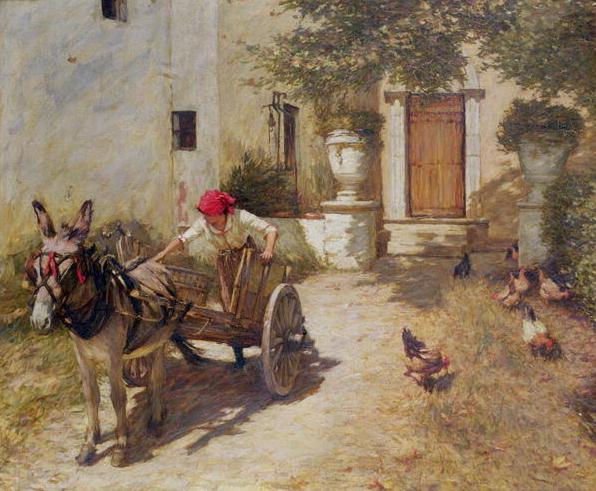 Farm Yard Scene 1905 | Henry Herbert La Thangue | oil painting