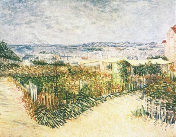 Vegetable Gardens at Montmartre | Vincent Van Gogh | oil painting