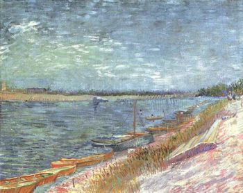 View of a River with Rowing Boats | Vincent Van Gogh | oil painting