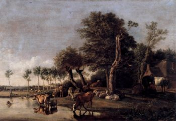 Cows Reflected in the Water 1648 | Paulus Potter | oil painting