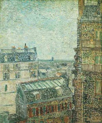 View of Paris from Vincent's Room in the Rue Lepic | Vincent Van Gogh | oil painting