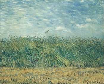 Wheat Field with a Lark | Vincent Van Gogh | oil painting