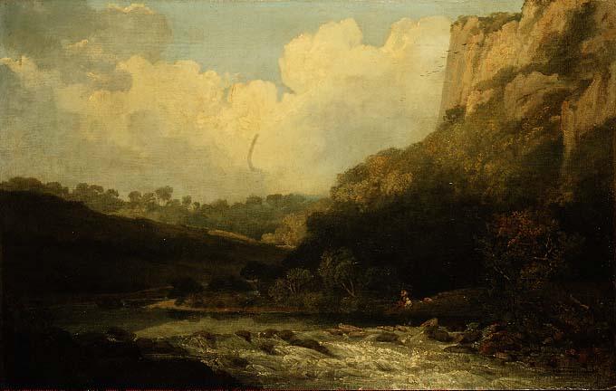 High Tor Matlock 1811 | John Crome | oil painting