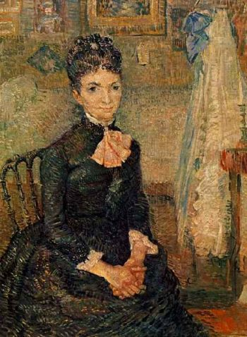 Woman Sitting by a Cradle   Vincent Van Gogh   oil painting