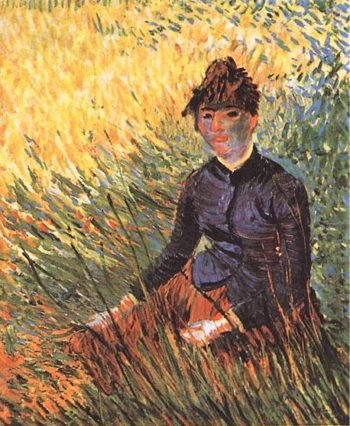 Woman Sitting in the Grass | Vincent Van Gogh | oil painting