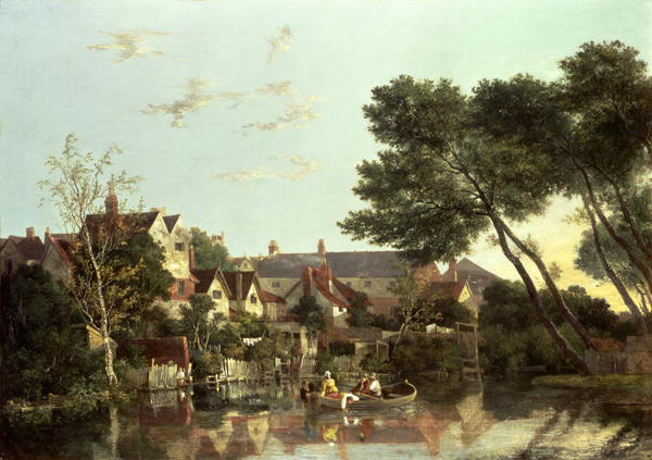 Norwich River Afternoonx 1812 19 | John Crome | oil painting