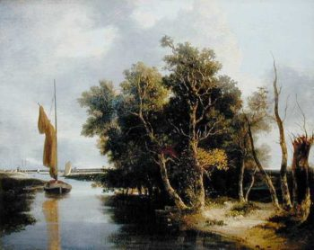 Wherries on the Yare | John Crome | oil painting