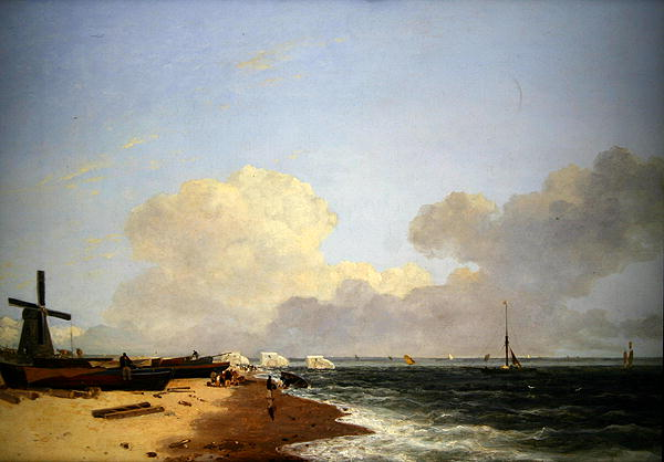 Yarmouth Beach looking North Morning | John Crome | oil painting