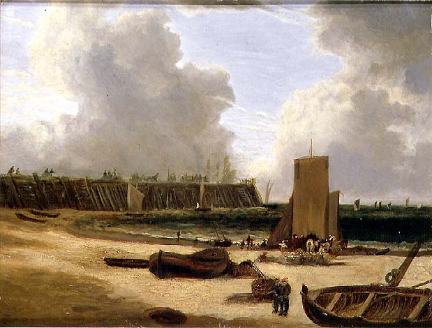 Yarmouth Old Pier | John Crome | oil painting