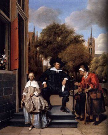 A Burgher of Delft and His Daughter 1655 | Jan Steen | oil painting