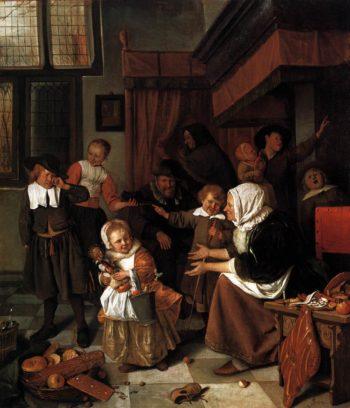 The Feast of St. Nicholas 1665-68 | Jan Steen | oil painting