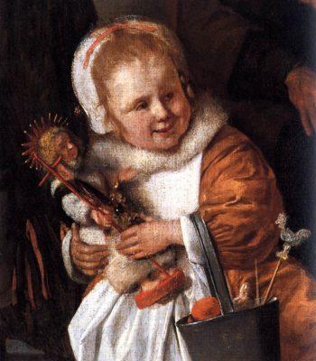The Feast of St. Nicholas (detail) 1665-68 | Jan Steen | oil painting